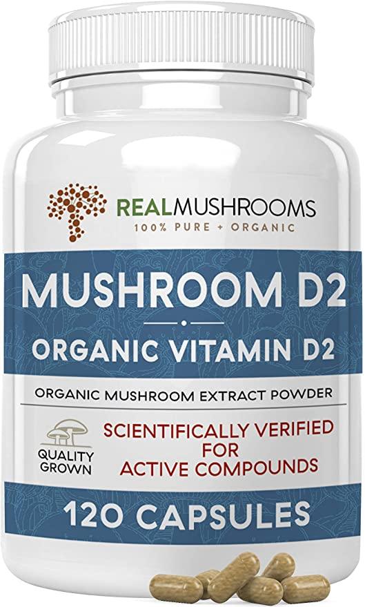 real mushrooms organic vitamin d2