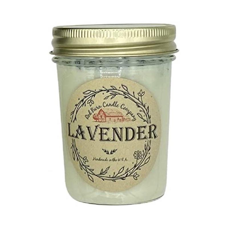 red barn lavander candle
