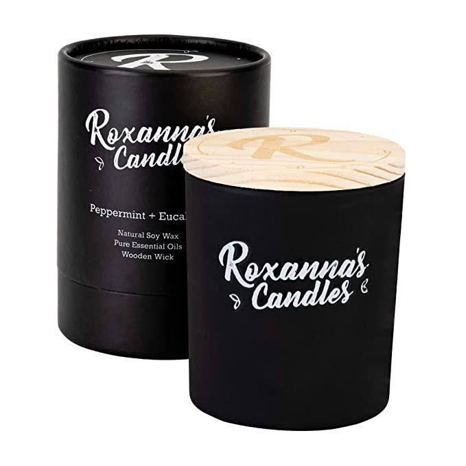 roxannas candles black wooden top
